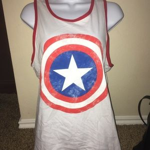 Marvel Captain America Muscle Tank Size M